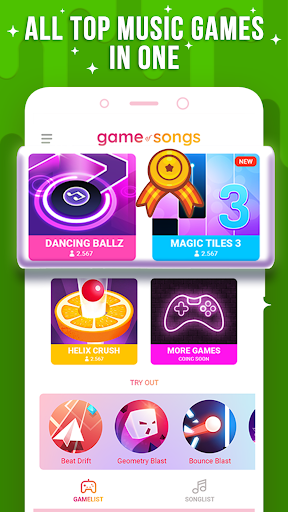 Game of Songs - Play most popular musics and games 1.1.5 screenshots 1