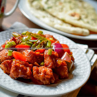 Chilli Chicken Dry, Restaurant style.