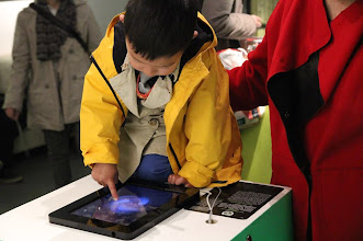 Photo: Electric Sheep iPad App exhibited in Beijing, curated by ZKM.