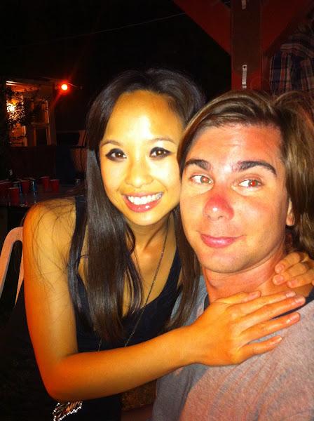 Photo: Sunburnt me and Alexandra Tea