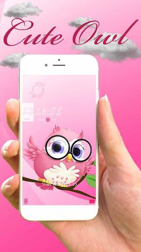 Pink anime cute owl theme 1.1.4 screenshots 2
