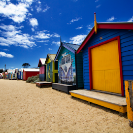 Brighton Beach by Steven De Siow - Buildings & Architecture Other Exteriors ( travel photography, beach, brighton, travel, melbourne )