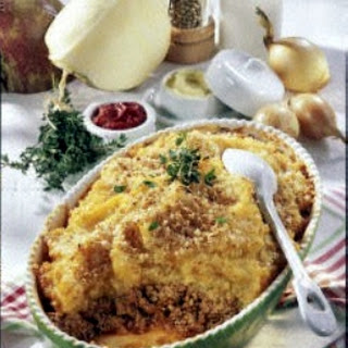 Shepherd's-Pie mit Steckrüben-Kartoffel-Püree