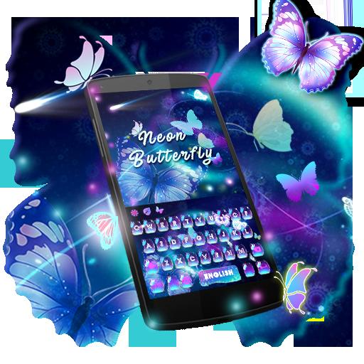 Neon Butterfly Keyboard