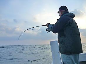"""Photo: まずは、必ず釣る""""キタノさん""""フィーッシュ!"""