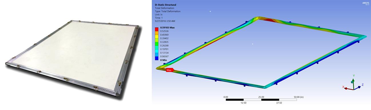 ANSYS Компания Carbon Freight использовала ANSYS для разработки облегченной паллеты для авиационных грузоперевозок