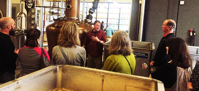 Bruce Leads a Tour of His Nashville Distillery