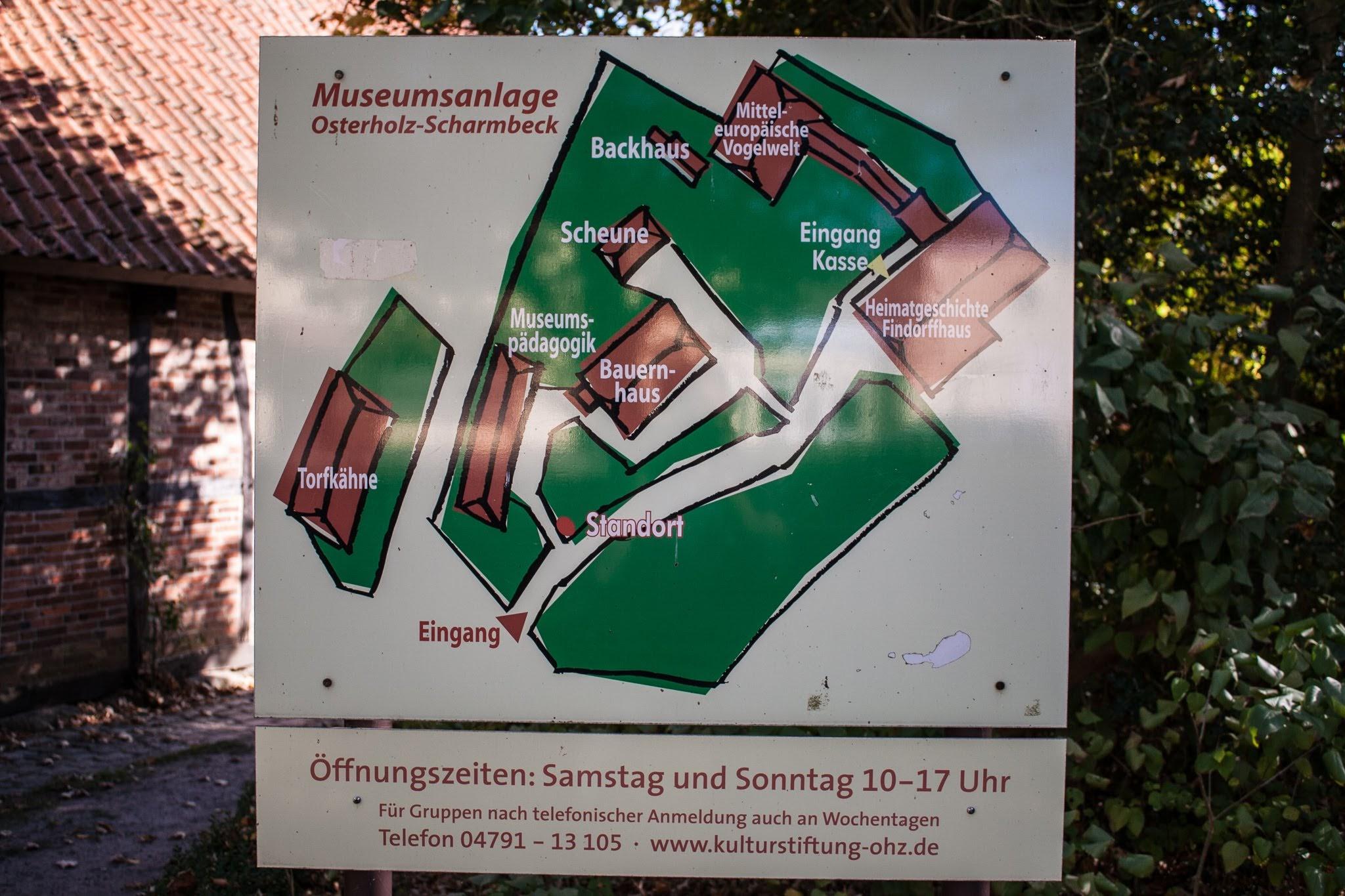Lageplan Museumsanlage Osterholz-Scharmbeck