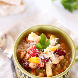 Slow Cooker Minestrone Soup.