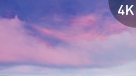 White Pink Cirrus Clouds on Violet Sky - 13