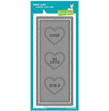 Lawn Fawn Dies - Scalloped Slimline With Hearts: Portrait
