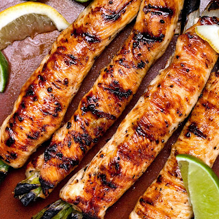 Grilled Chicken Breasts Stuffed With Herb Butter
