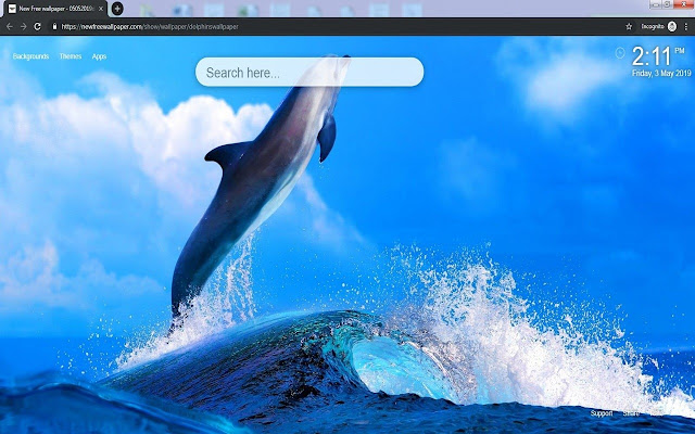 Dolphins Wallpaper HD Dolphin New Tab Themes