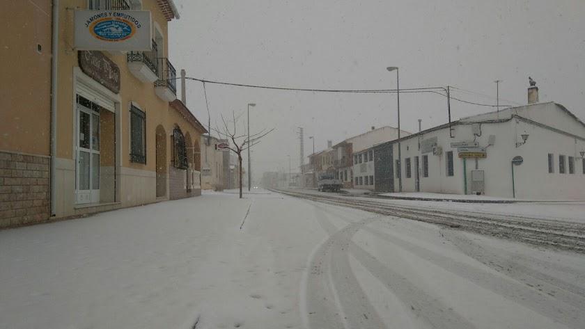 Imagen nevada de María, en la comarca de los Vélez, hoy