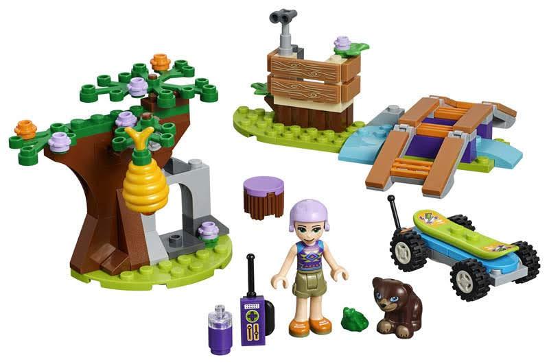 Contenido de Lego® 41363 Aventura en el Bosque de Mia