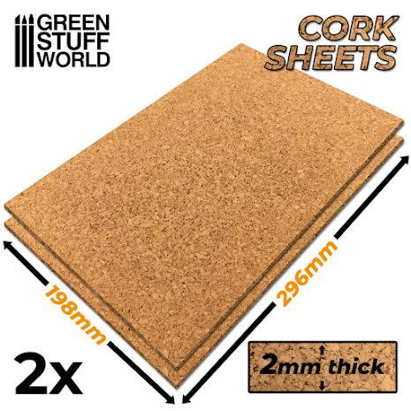 Cork Sheet in 2mm x2