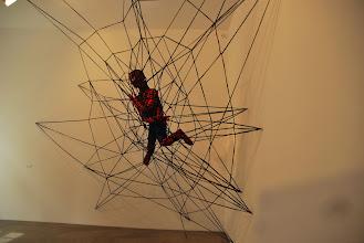 """Photo: Deschler Galerie: Patricia Waller Broken Heroes """"Spiderman"""""""