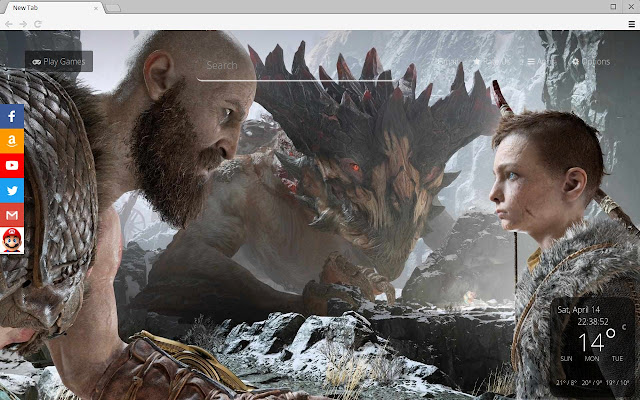 God Of War 2018 Game Hd Wallpapers New Tab