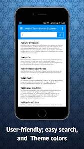 Medical Dictionary German screenshot 11