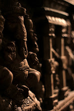 Photo: Wooden Ganesha on the wall