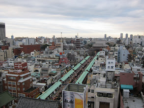 Photo: Nakamise shopping street and temples