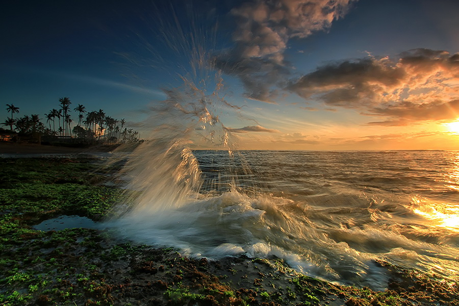 by Agoes Antara - Landscapes Waterscapes ( nature, waterscape, wave, sunrise )