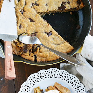 Coconut Oil Skillet Chocolate Chunk Cookie.
