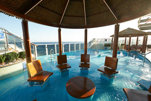 Exclusive to guests staying in Havana staterooms and suites, the Havana Pool has a swim-up bar and a great vibe.