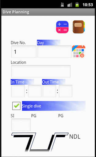 scuba diving Dive Planner lite 1.7 Windows u7528 2