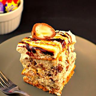 No Bake Easter Cream Egg IceBox Cake.