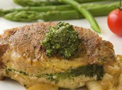Fireman Bob's Pesto - Stuffed Pork Chops Recipe
