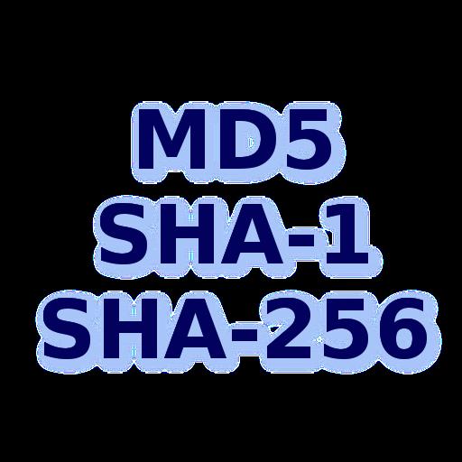 MD5 SHA1 SHA256