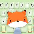 Cute Cartoon Fox Keyboard Theme apk