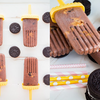 Oreo Chocolate Pudding Peanut Butter Popsicles