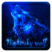 Night sky wolf Keyboard theme