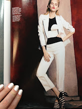 Photo: Black and linen outfit from Marie Claire. Looking at spring fashion while the first coat of white dries.