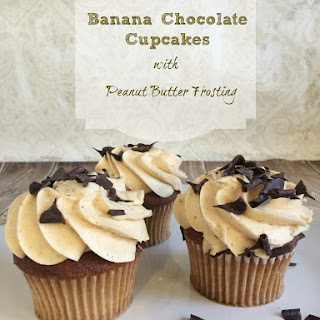 Banana Chocolate Cupcakes with Peanut Butter Frosting
