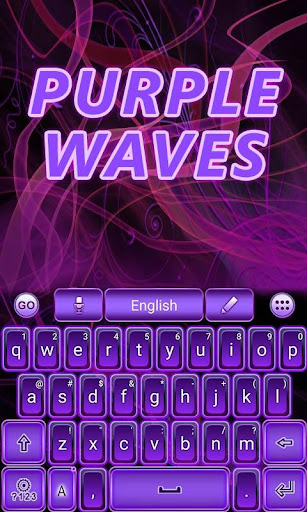 Purple Waves GO Keyboard Theme