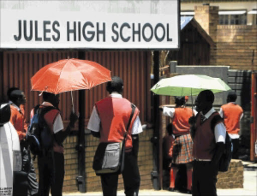 BAD REPUTATION:  One of the clips on the website shows some pupils having sex at the school while  other pupils film them on their cellphones.  Photo: SIMPHIWE NKWALI