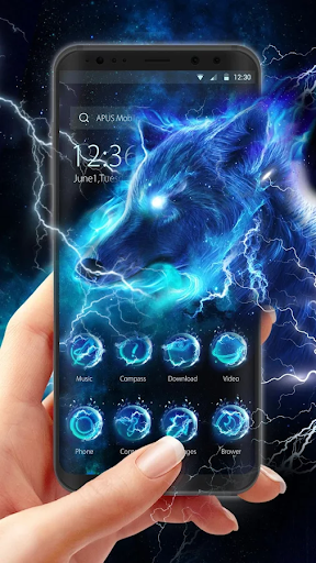 Starlight Galaxy Ice  Wolf-APUS Launcher theme - screenshot