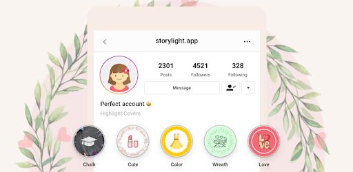 Sorot Pembuat Sampul Untuk Instagram Storylight Aplikasi Di