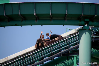 Photo: (Year 3) Day 25 - Rog and Edward on the Log Flume