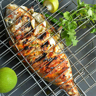 Grilled Fish Indian Recipe | Spicy Grilled Fish Indian Style | Grilled Fish Masala Recipe | Indian Spiced Grilled Whole Fish | Grilled Dorade