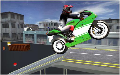 都市バイクは 3Dのスタント