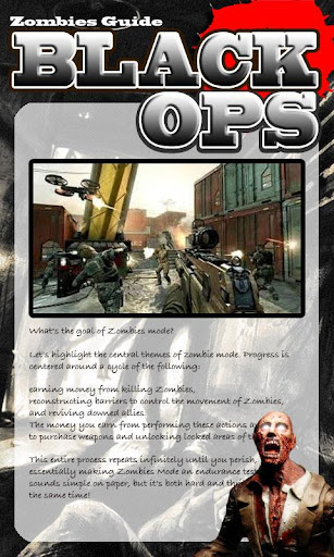 Black Ops Zombies Guide