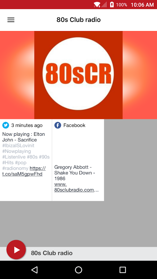 80s Club radio- screenshot