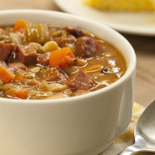 Slow Cooker Ham & Bean Soup.