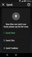 screenshot of HTC Speak