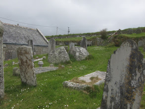 Photo: This boulder was cleaved in half by St Levan himself ...