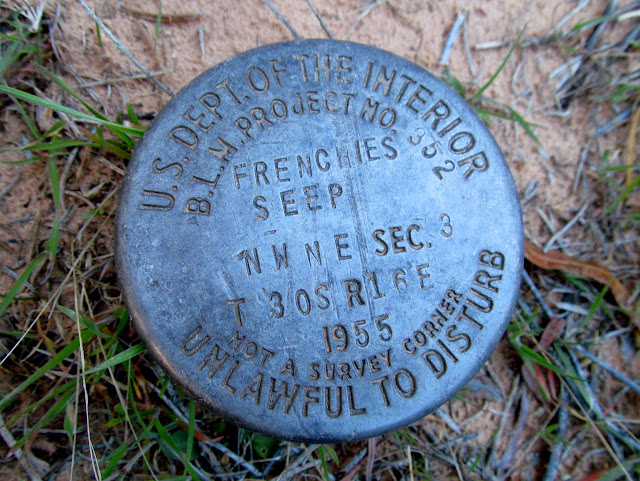 Frenchie's Seep survey marker